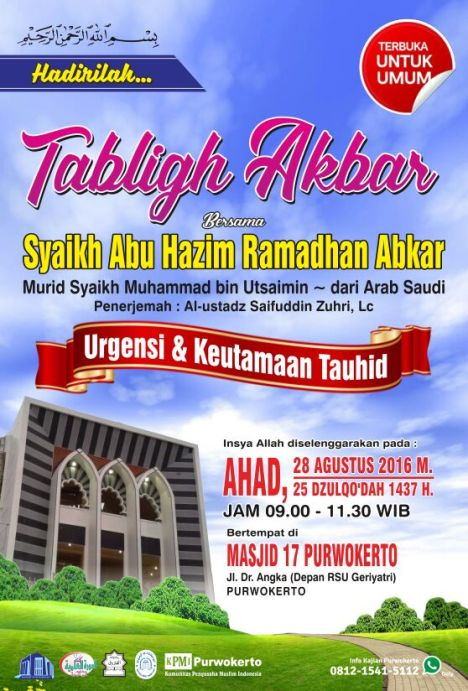 Tabligh Akbar Syaikh Abkar 2016